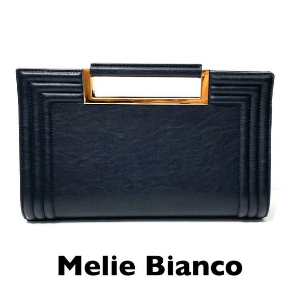 Melie Bianco Handbags - Melie Bianco Vegan Leather Rectangular Black Bag